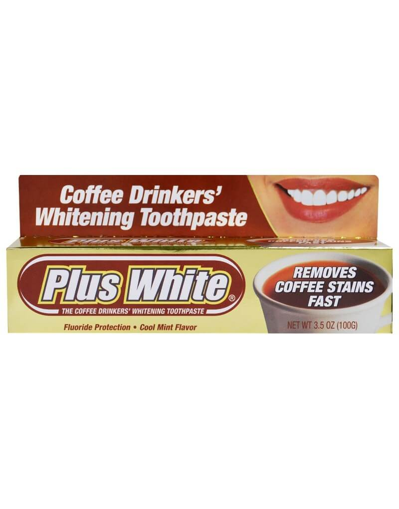 Plus White, The Coffee Drinkers' Whitening Toothpaste, Cool Mint Flavor, 3.5 oz (100 g)