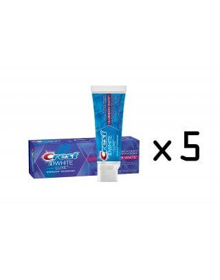 Pasta Crest 3D White Luxe Glamorous White Toothpaste, Vibrant Mint, (Cena dotyczy 5 sztuk. )