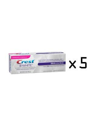 Pasta Crest 3D White Brilliance Whitening Toothpaste, Mesmerizing Mint (Cena dotyczy 5 sztuk. )