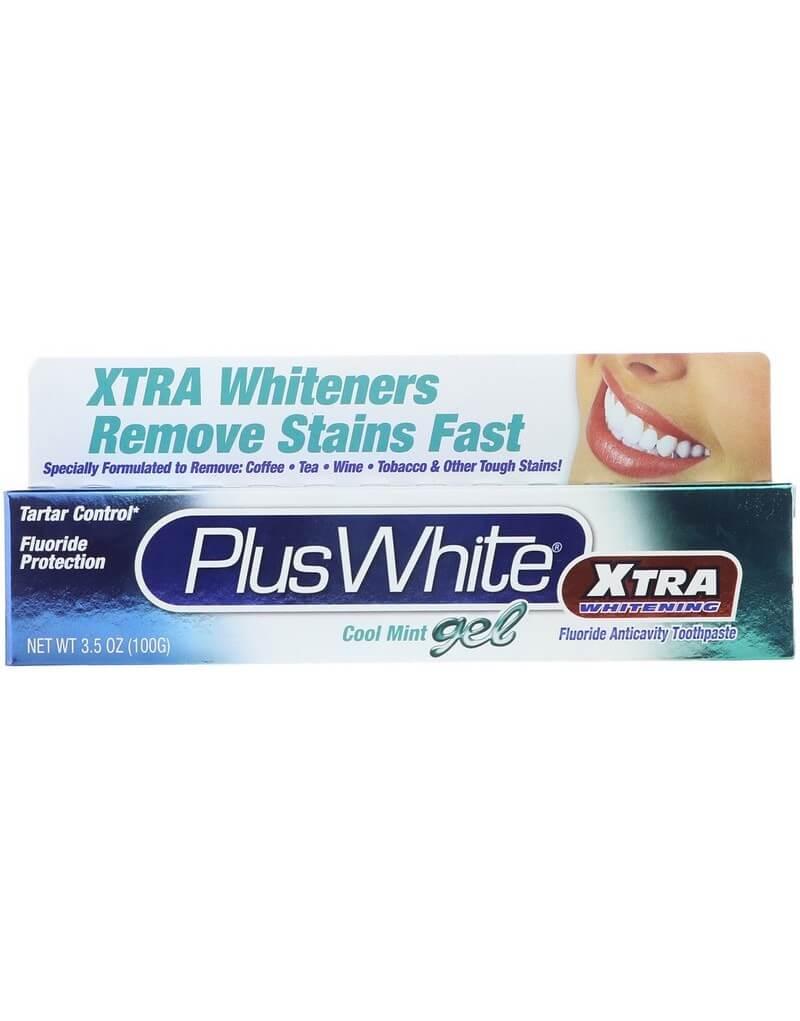 Plus White, Xtra Whitening with Tartar Control, Cool Mint Gel, 3.5 oz (100 g)(Cena dotyczy 5 sztuk)
