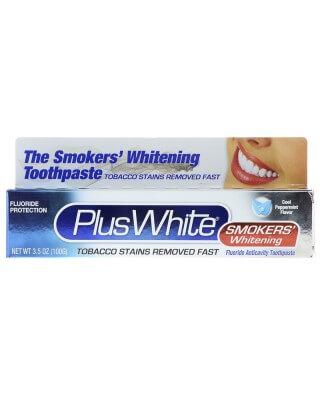 Plus White, The Smokers' Whitening Toothpaste, Cooling Peppermint Flavor, 3.5 oz (100 g)(Cena dotyczy 5 sztuk)