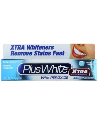 Plus White, Xtra Whitening with Peroxide, Clean Mint Paste, 2.0 oz. (60 g)