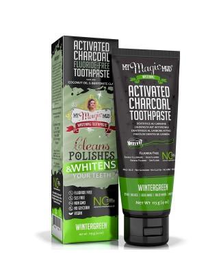 My Magic Mud, węgiel aktywowany, bez fluoru, wybielająca pasta do zębów, Wintergreen 4 oz (113 g)