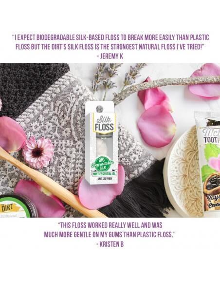 The Dirt - Naturalne Nici dentystyczne Biodegradowalny jedwab - Miętowy smak
