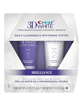 Pasta do zębów Crest 3D White Brilliance 2 step (Cena dotyczy trzech zestawów)