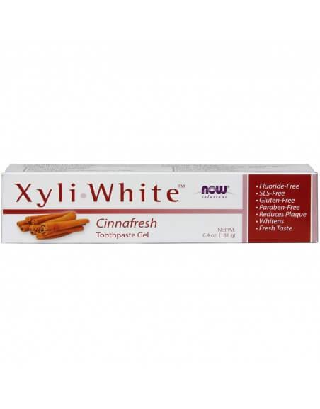 Now Foods XyliWhite, Pasta wybielające do zębów / żel  Cynamonowa świeżość  181 g.